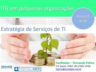 Capa do material ITIL em pequenas organizações