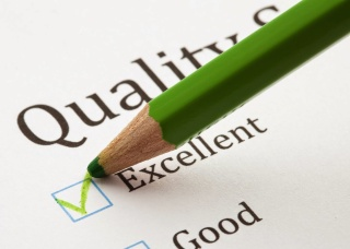 checklist com níveis de qualidade em eficiência e eficácia